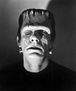 Glenn Strange as the Frankenstein Monster, perhaps the most recognizable of the movie Frankenstein monsters.