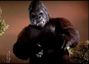 Kong's looking mighty ferocious in the 1976 KING KONG.