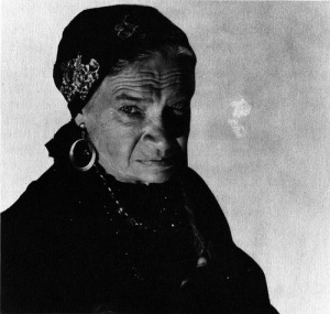 Maria Ouspenskaya as Maleva in THE WOLF MAN (1941).